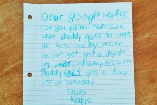 google responds little girls adorable letter asking time dad final