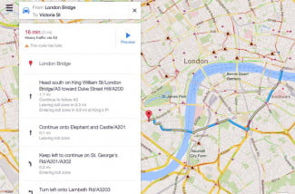 Google Maps 2.0 comes to iOS screenshot driving directions