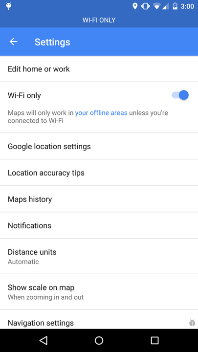 google maps wifi only sd card