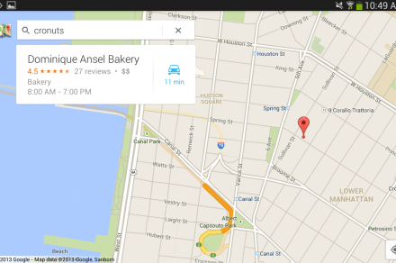 Google Maps for Android - Cronuts