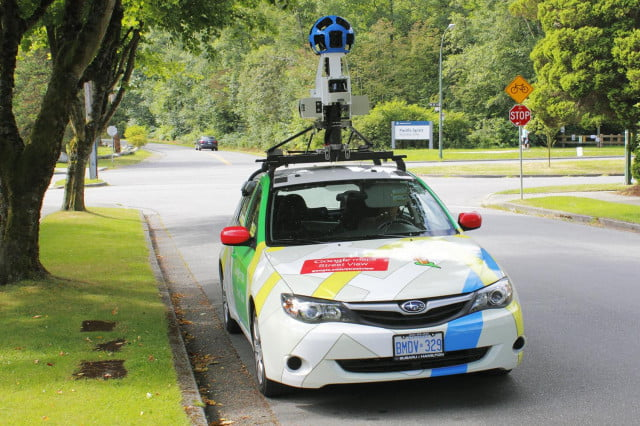 google pays  for womans cleavage street view maps