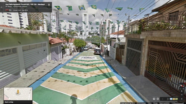 Google Maps Street View of iconic painted streets of Brazil, like this one in São Paolo.