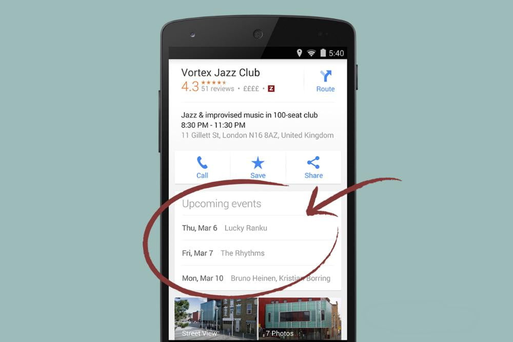 google maps for android gets new events listing feature upcoming