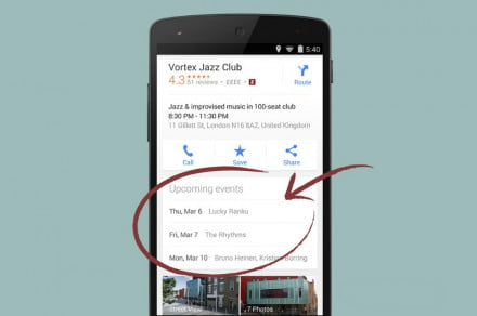 google maps Upcoming Events