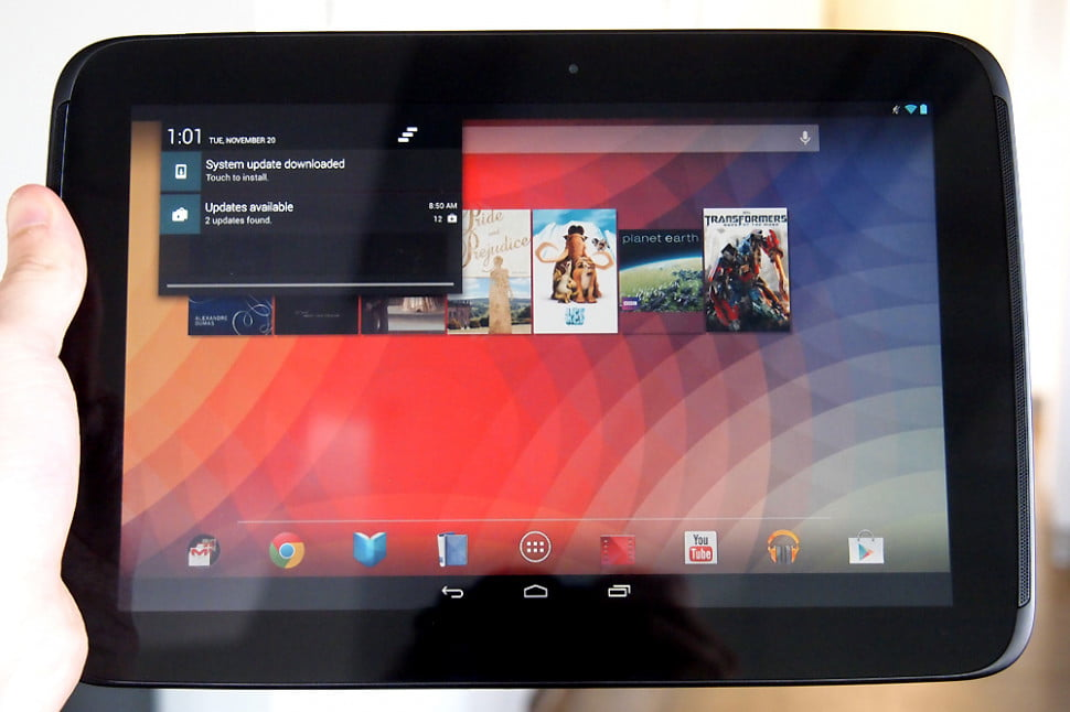 Google Nexus 10 review front android tablet