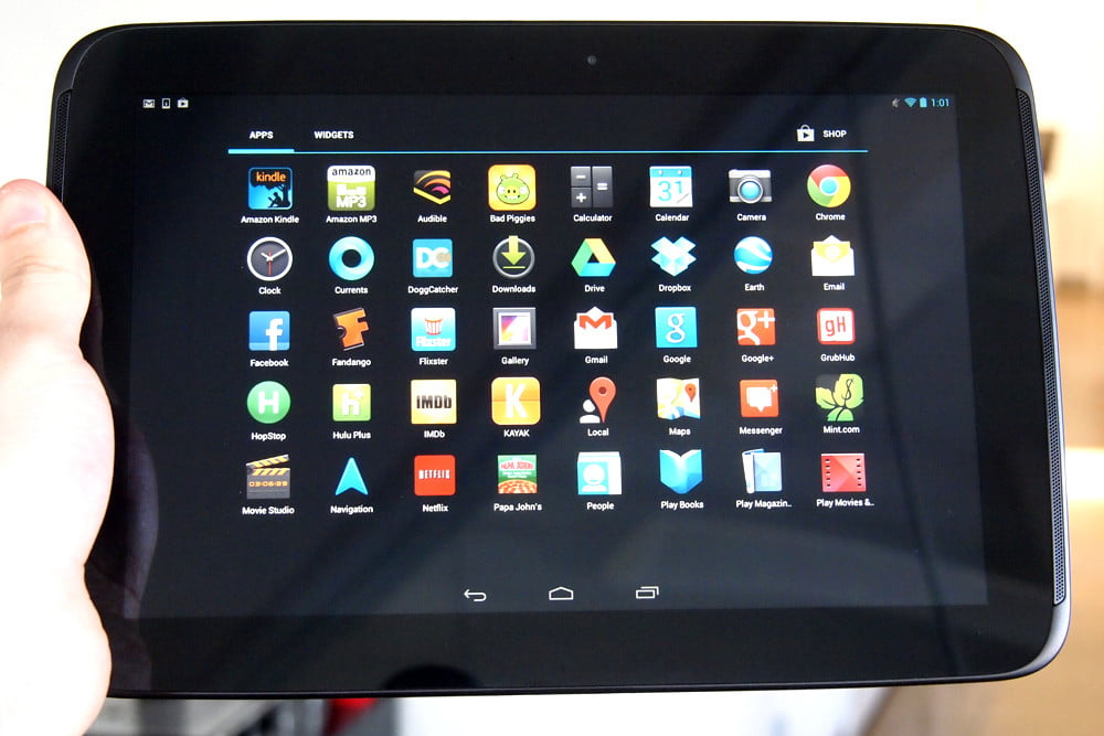 Google Nexus 10 review home apps android tablet