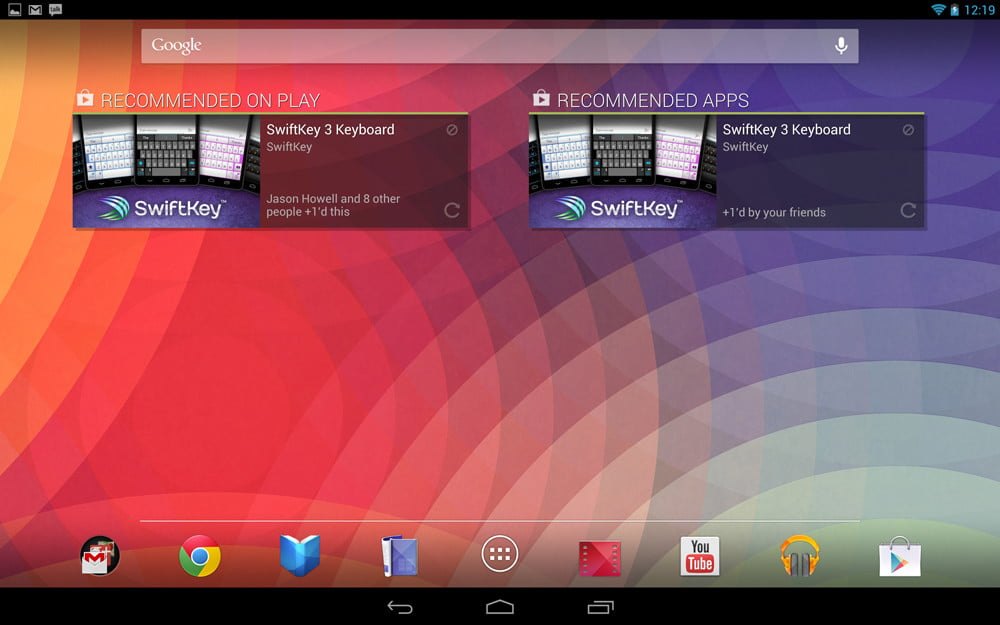 Google Nexus 10 review screenshot apps android tablet