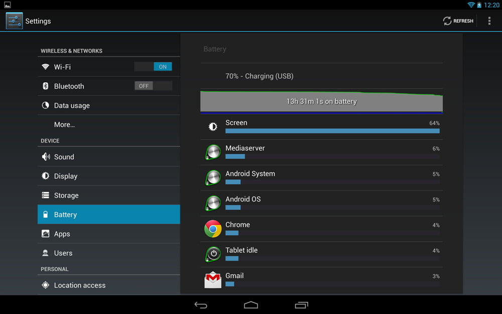 Google Nexus 10 review screenshot battery android tablet