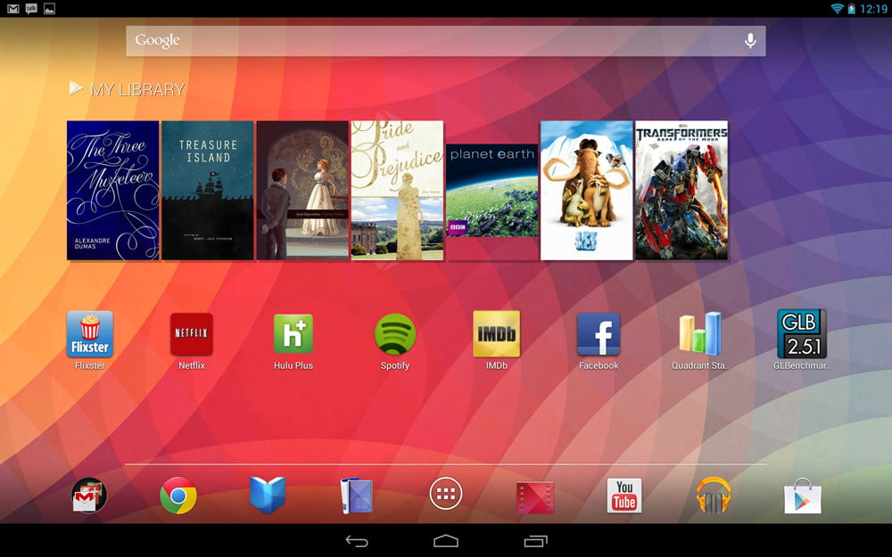 Google Nexus 10 review screenshot library android tablet