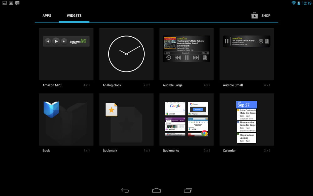 Google Nexus 10 review screenshot widgets android tablet