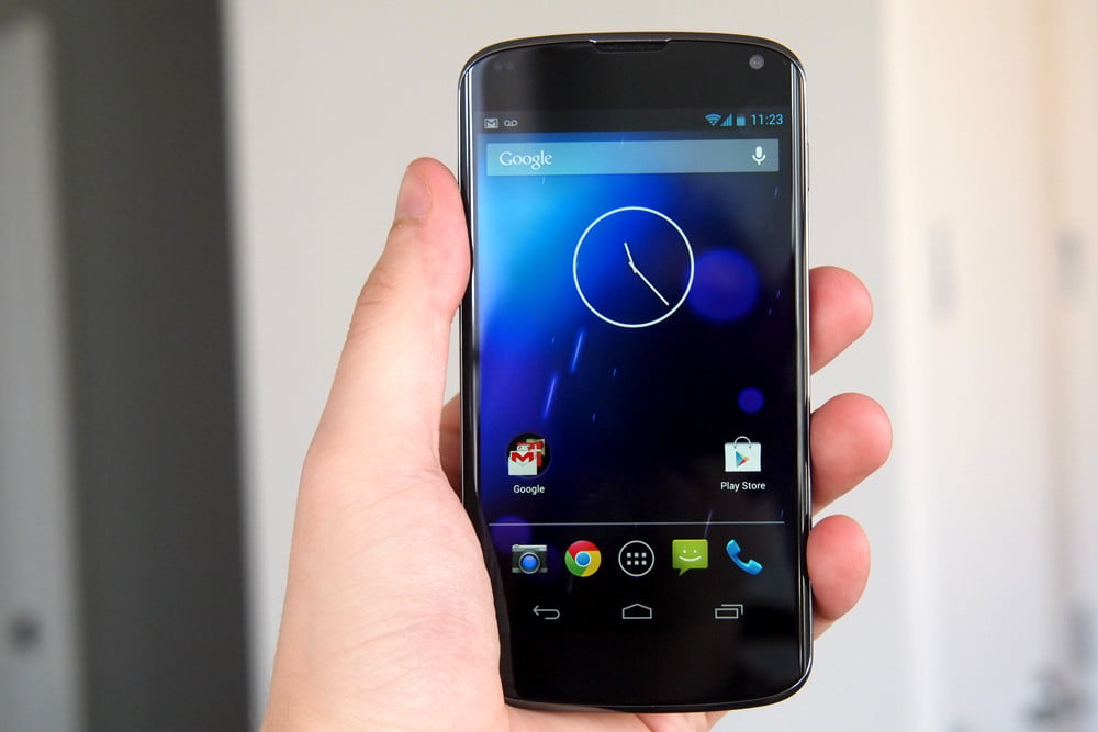 Google Nexus 4 Review front 2 android phone