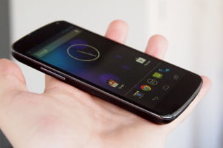 Google Nexus 4 Review front angle android phone