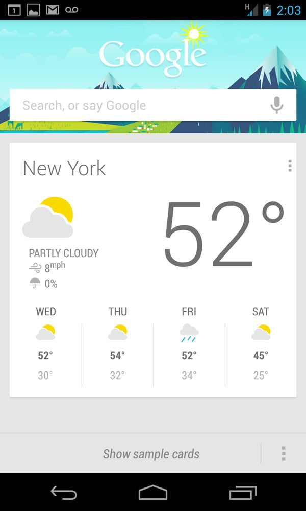 Google Nexus 4 Review screenshot weather android phone