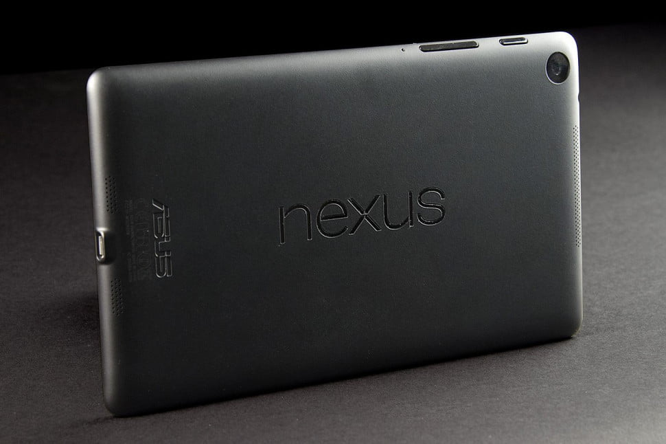 Google Nexus 7 back angle