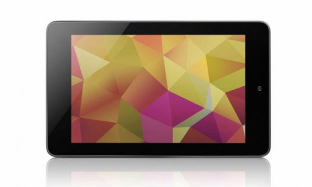 Google Nexus 7 tablet in landscape orientation