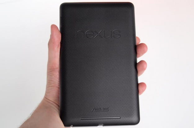 Google Nexus 7 Tablet review back android tablet