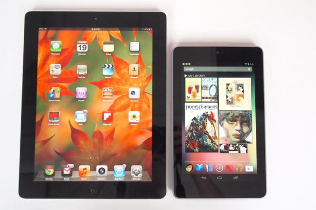 Google Nexus 7 Tablet review front ipad side by side android tablet