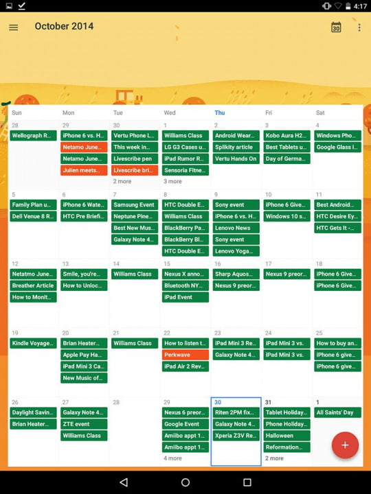 nexus  review google screenshot calendar