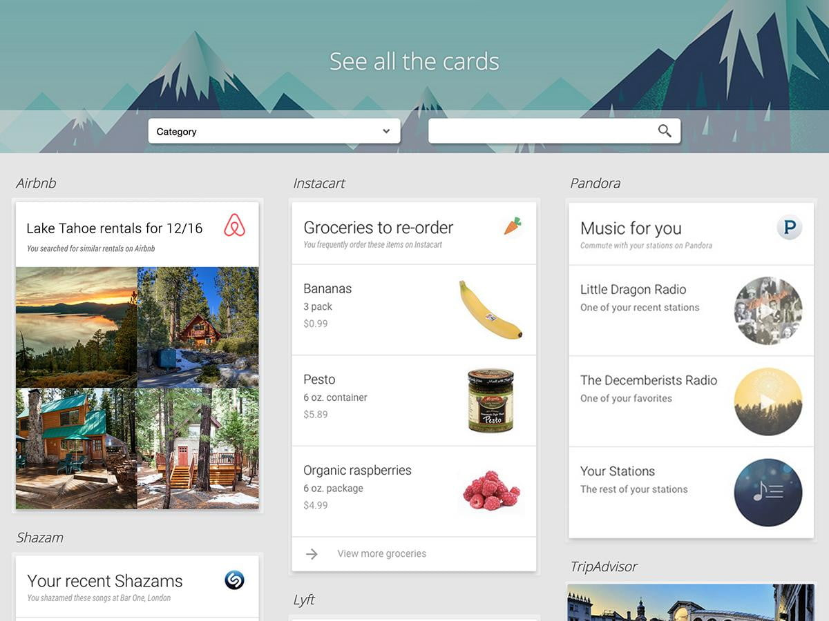 third party apps coming google now cards