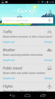 Google Now updates
