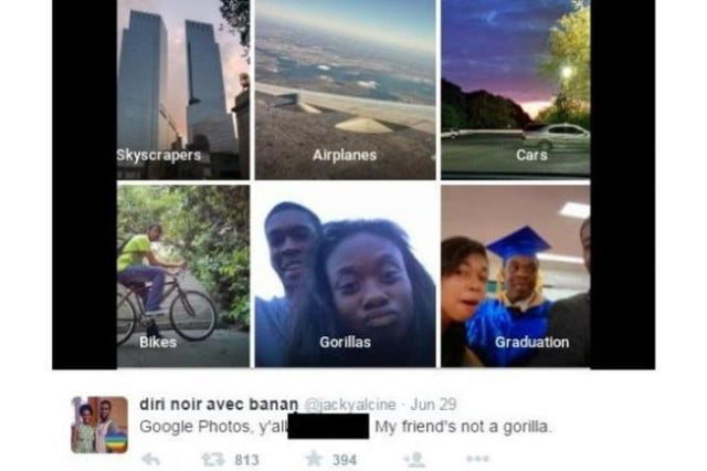 google apologizes for misidentifying a black couple as gorillas in photos app racist error