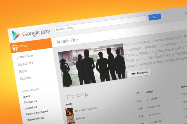 google play movies and tv all access news arcade fire playlist
