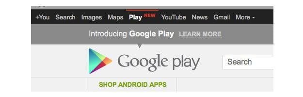 Google Play Black Bar