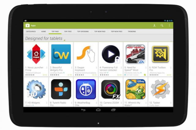 google play store tablet optimized apps for tablets