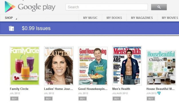 Google Play Magazine purchases