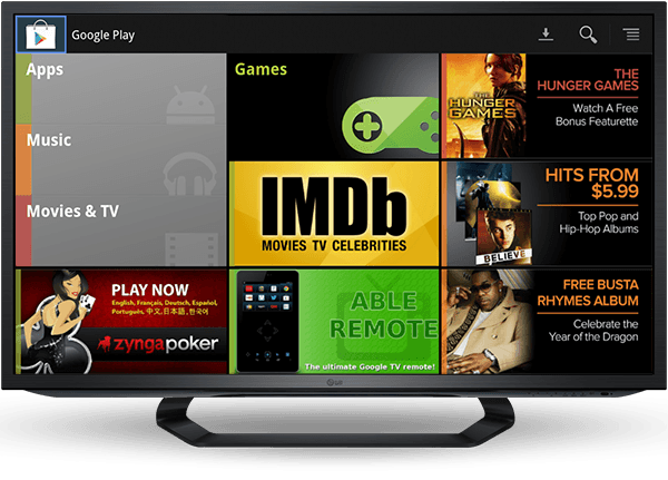 google play on google tv