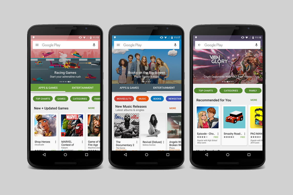 google play stores visual revamp is rolling out now store header