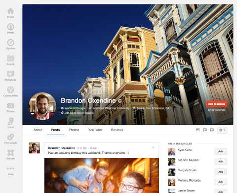 Google+ adds 'Reviews', huge cover photos, prettier 'About ...