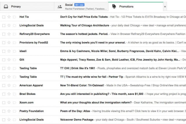 why gmails new tabs are freaking out retailers google promotions tab