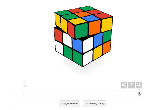 rubiks cube becomes google doodle