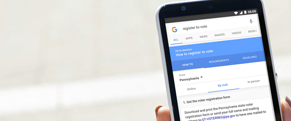 'How do I vote?' Google is making it easier to find out
