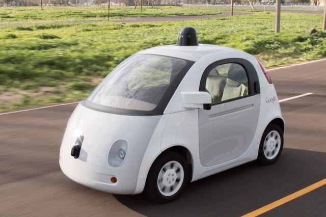 google self driving cars cyclists car