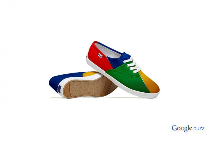 social media sites redesigned as sneakers are surprisingly fashionable google shoes