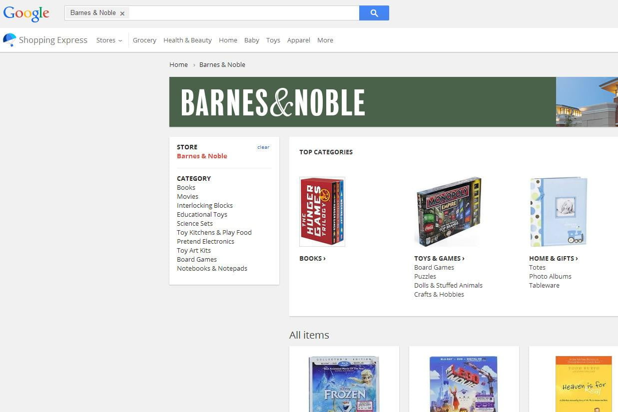 contrast amazon and barnes and noble website Amazon has basically no competition among online booksellers here's harry potter on amazon vs barnes & noble: amazon barnes & noble by contrast.