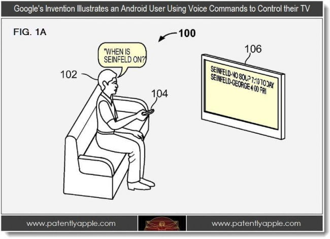 Google TV Voice Command Patent