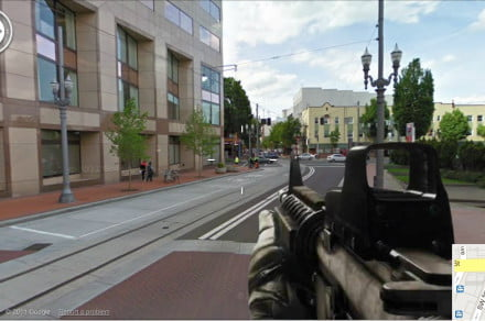 Google Maps first-person shooter