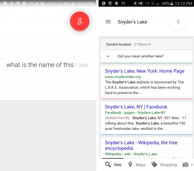 google skews search results in own favor location aware screenshot  a