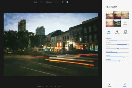 With Google+ Photos, choose various filters and effects depending on how retro or modern you want your image to be.