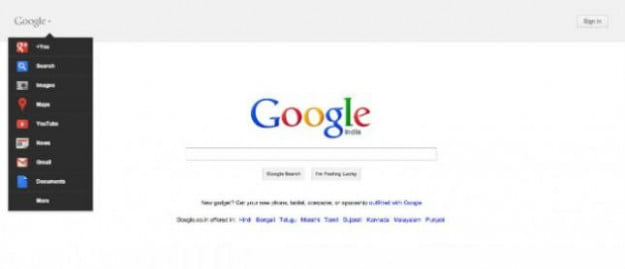 Google Search home page design Jan 2012