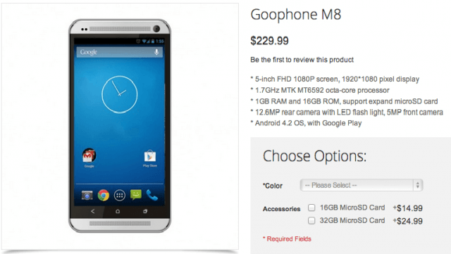 goophone announces knockoff new htc one m