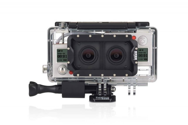 gopros new dual hero casing takes two cameras lets record  d video gopro case