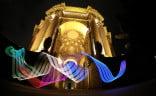 """With the Hero4's night settings, you can use the camera's long exposure setting to create """"light paintings"""" like this in front of San Francisco's Palace of Fine Arts. A light source can be anything from a flashlight or specialty multicolor light bar."""