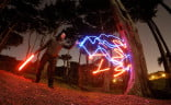 Another Star Wars-themed light painting.