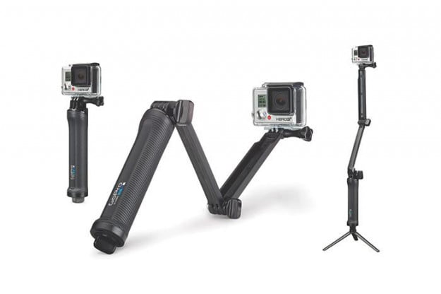 The 3-Way has three configurations that help you shoot POV or follow-cam footage.