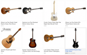 Google Product Search Guitars (thumbails)