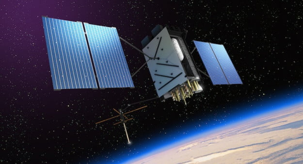 Lockheed Martin GPS III Satellite art